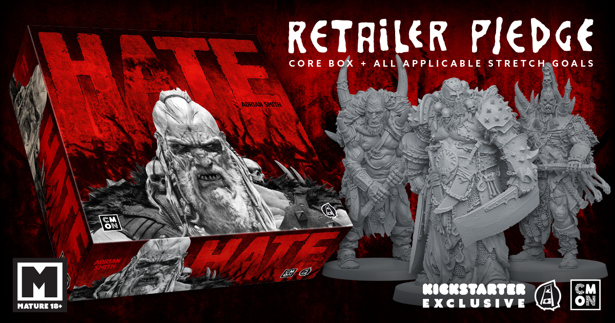 HATE Kickstarter Retail Pledge