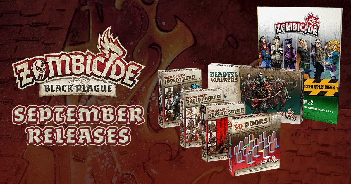 Bring the Plague! Zombicide: Black Plague Releases for September 23, 2016