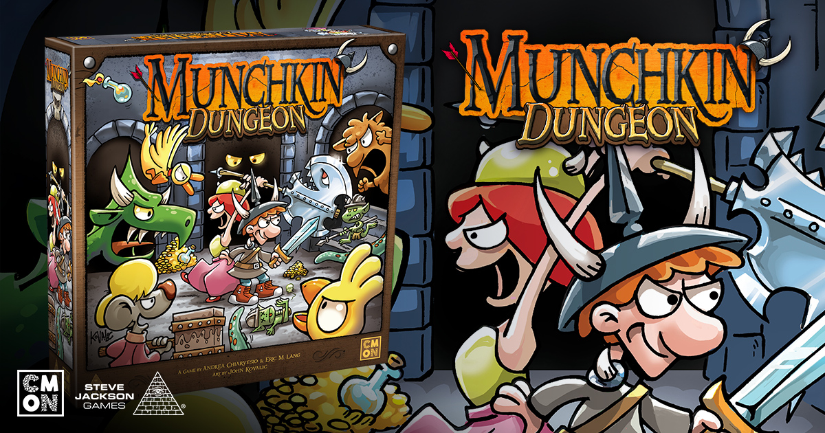 CMON Limited Announces Munchkin Dungeon with Steve Jackson Games