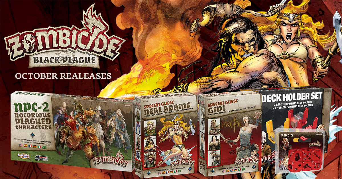 Zombicide: Black Plague Releases for October 21st