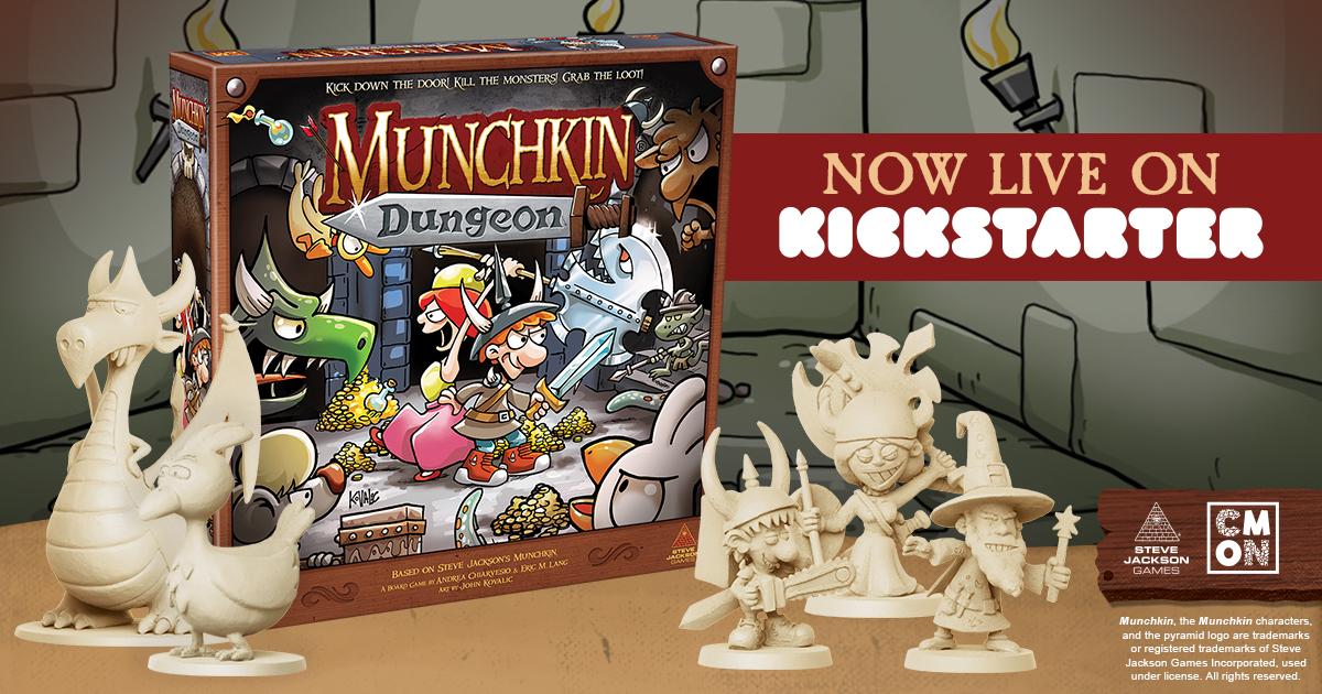 The Munchkin Dungeon Kickstarter is Live