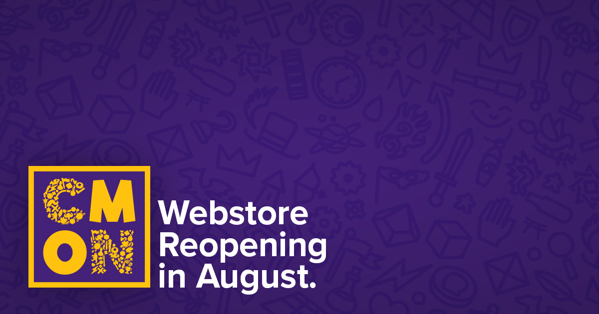 Our webstore is reopening in August!