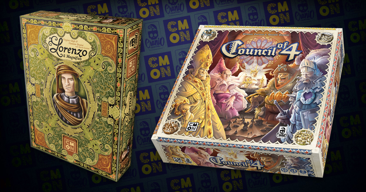 CMON and Cranio Creations to Publish Lorenzo il Magnifico and Council of 4
